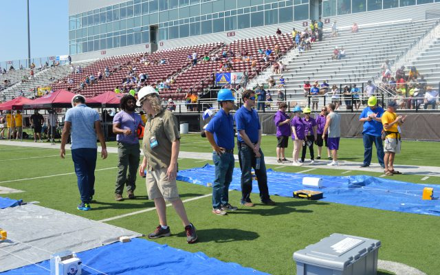 ACES Preparations on football field